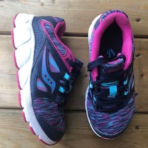 Saucony Little Girls Kotara 4 Lace Up Runners Running Shoes Sneakers Wide